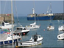 SW4730 : Penzance harbour by Sarah Charlesworth