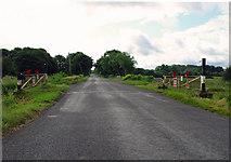 N4435 : Level crossing: peat railway near Tyrrellspass, Co. Westmeath by Dylan Moore