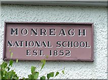 C3412 : Plaque, Monreagh National School by Kenneth  Allen