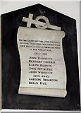 TM1994 : St Mary's church - war memorial by Evelyn Simak