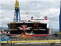 J3676 : 'Stena Primorsk' in dry dock, Belfast by Rossographer