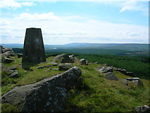 SD7559 : Trig Point on Whelp Stone Crag (1217') by John H Darch