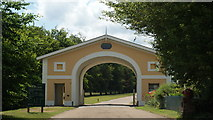 TQ1352 : Entrance to Polesden Lacey Estate, Surrey by Peter Trimming