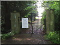NZ2737 : Croxdale Hall entrance gates by peter robinson