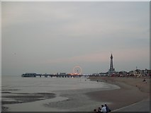 SD3035 : Central Pier and Blackpool Tower by Stephen Sweeney