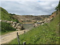NZ4346 : Entrance to Hawthorn Quarry by peter robinson
