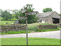 SD9652 : Old signpost at Thorlby by Stephen Craven