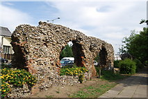 TG2209 : Remnant of the City Wall of Norwich by N Chadwick