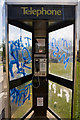 SU4712 : Telephone Box graffiti, Ellwood Avenue, Thornhill by Peter Facey