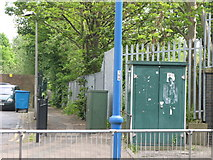 TL2501 : Path alongside the railway south of Potters Bar station by Mike Quinn