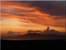 L6686 : Sunset over Clare Island by Oliver Dixon