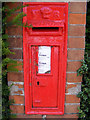 TM3862 : South Entrance Victorian Postbox by Adrian Cable