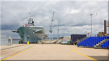 SU6200 : Victory Jetty with HMS Ark Royal beyond by Peter Facey