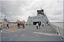 SU6200 : View from helicopter deck of HMS Daring by Peter Facey