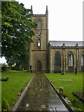 SE1223 : The Parish Church of St Anne in the Grove, Southowram, Tower by Alexander P Kapp