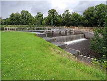 H0911 : The weir at Ballyduff Lock by Oliver Dixon