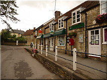 ST7719 : Marnhull: post office/stores and postbox № DT10 95 by Chris Downer