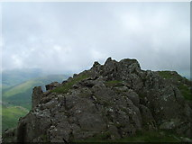 NY2206 : Cairn and summit of Pen by David Brown