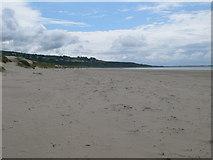 SH5631 : Looking south along Harlech's beach by Eirian Evans