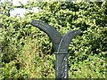 SP7727 : Millennium milepost on NCN51 at Winslow (closeup) by Colin Bell