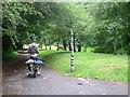 SO7806 : Millennium milepost on NCN45 near Eastington by Colin Bell