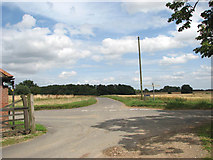 TG2500 : Junction of Brickle Road with Abbot's Lane by Evelyn Simak