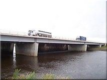 NY3564 : A74 Bridge Over River Esk At Metal Bridge by James T M Towill