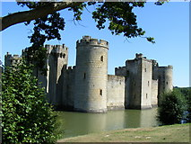 TQ7825 : Bodiam Castle and moat by PAUL FARMER