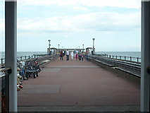 TR3752 : Deal Pier viewed from the entrance by pam fray