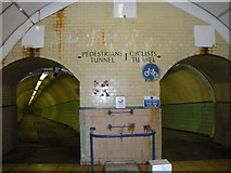 NZ3266 : Pedestrian and cyclist tunnels, under the Tyne by hayley green