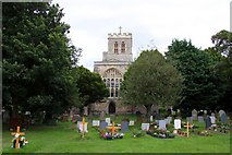 SP7006 : St Mary's Church and churchyard in Thame by Steve Daniels