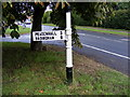 TM3968 : Finger Post, Old High Road, Yoxford by Geographer