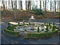 NY8362 : Fountain at Langley Castle by Russel Wills