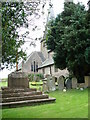 SO3914 : St. Teilo's church, Llantilio Crossenny,  and the War Memorial by Ruth Sharville