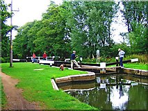 SU9946 : Unstead Lock, Godalming Navigation by L S Wilson