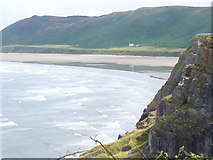 SS4088 : Rhossili Bay and an Incoming Tide by Colin Smith