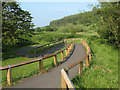 NT9727 : Access ramp to Wooler Common nature trail by Stephen Craven
