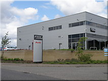 TL2373 : Audi Service Centre, Washingley road by Michael Trolove