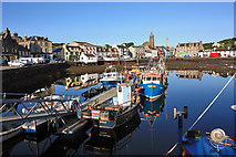 NR8668 : Boats in Tarbert Harbour by Peter Church