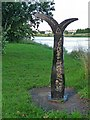 ST3188 : Milepost on the cycle track, Shaftesbury Park by Robin Drayton