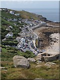 SW3526 : Sennen Cove from above by Alec MacKinnon