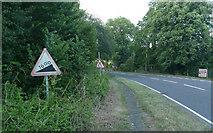 TQ2151 : Pebble Hill Road - Steep Hill 16% by Adam Morse