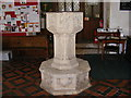 TM3361 : The Font of All Saints Church, Great Glemham by Adrian Cable