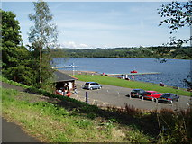 NS3559 : Castle Semple Loch from Cycle track by Gordon Dowie