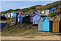 SZ2791 : Beach huts, Milford on Sea by Jim Champion