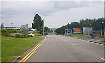 NJ8711 : Access road to Aberdeen Airport by C Michael Hogan
