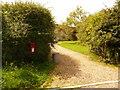 ST8018 : Marnhull: postbox № DT10 102, Moorside by Chris Downer