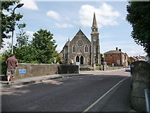 ST8026 : Gillingham: Town Bridge and the Methodist church by Chris Downer