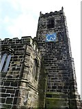 SJ9995 : Mottram Church Tower by Gerald England