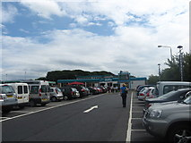 SD5052 : Car park at the south bound Lancaster (Forton) services on the M6 by James Denham
